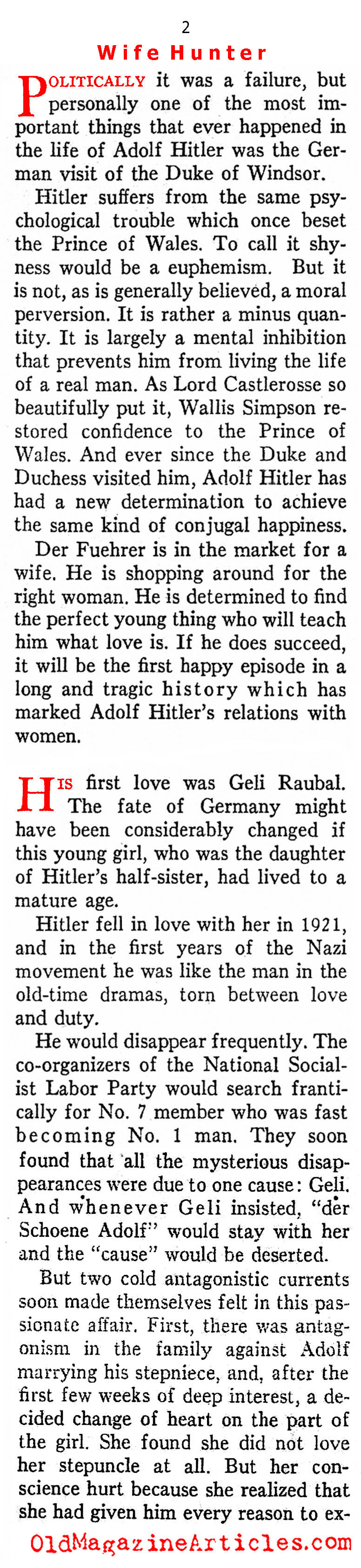 Hitler Goes Wife Shopping (Ken Magazine, 1938)