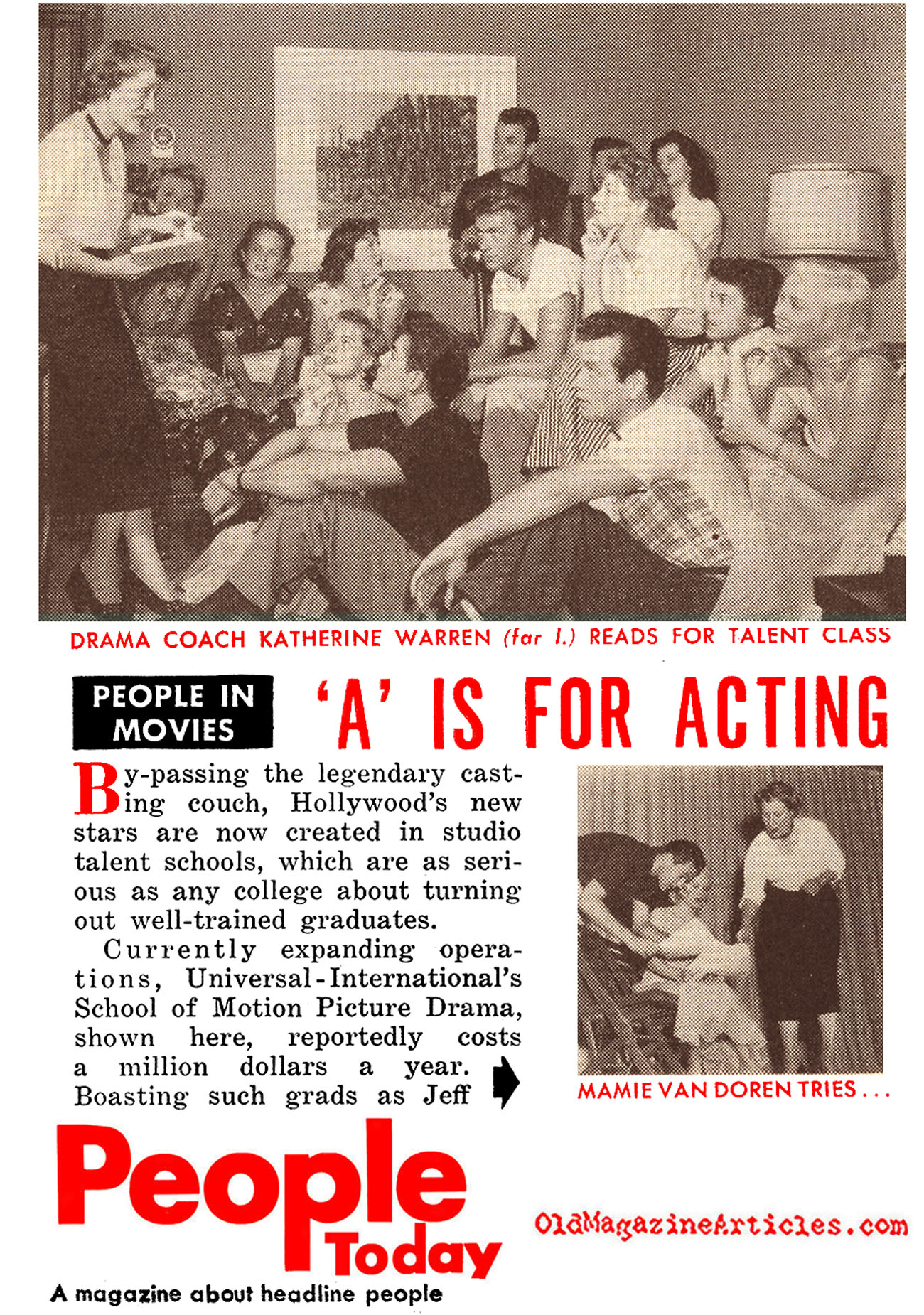 'A' is for Acting (People Today Magazine, 1955)