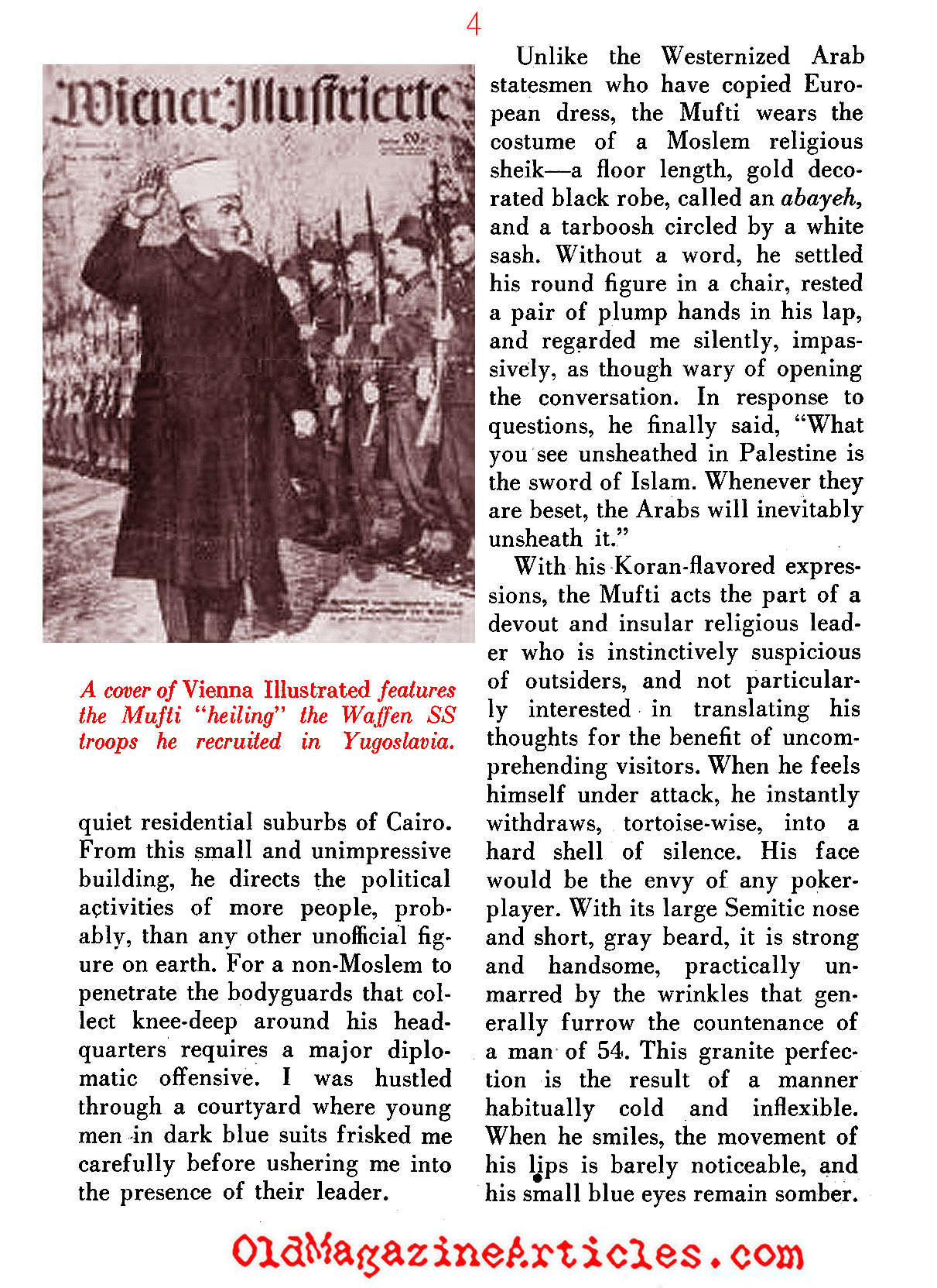 The Nazi's Man in British Palestine ('48 Magazine, 1948)