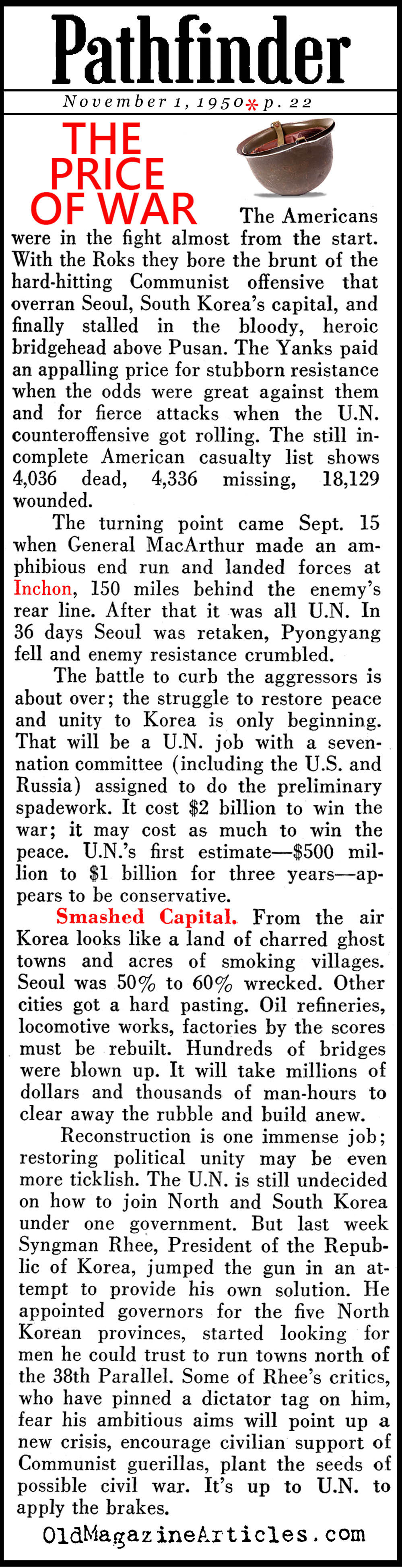 False Hope in Washington (Pathfinder Magazine, 1950)