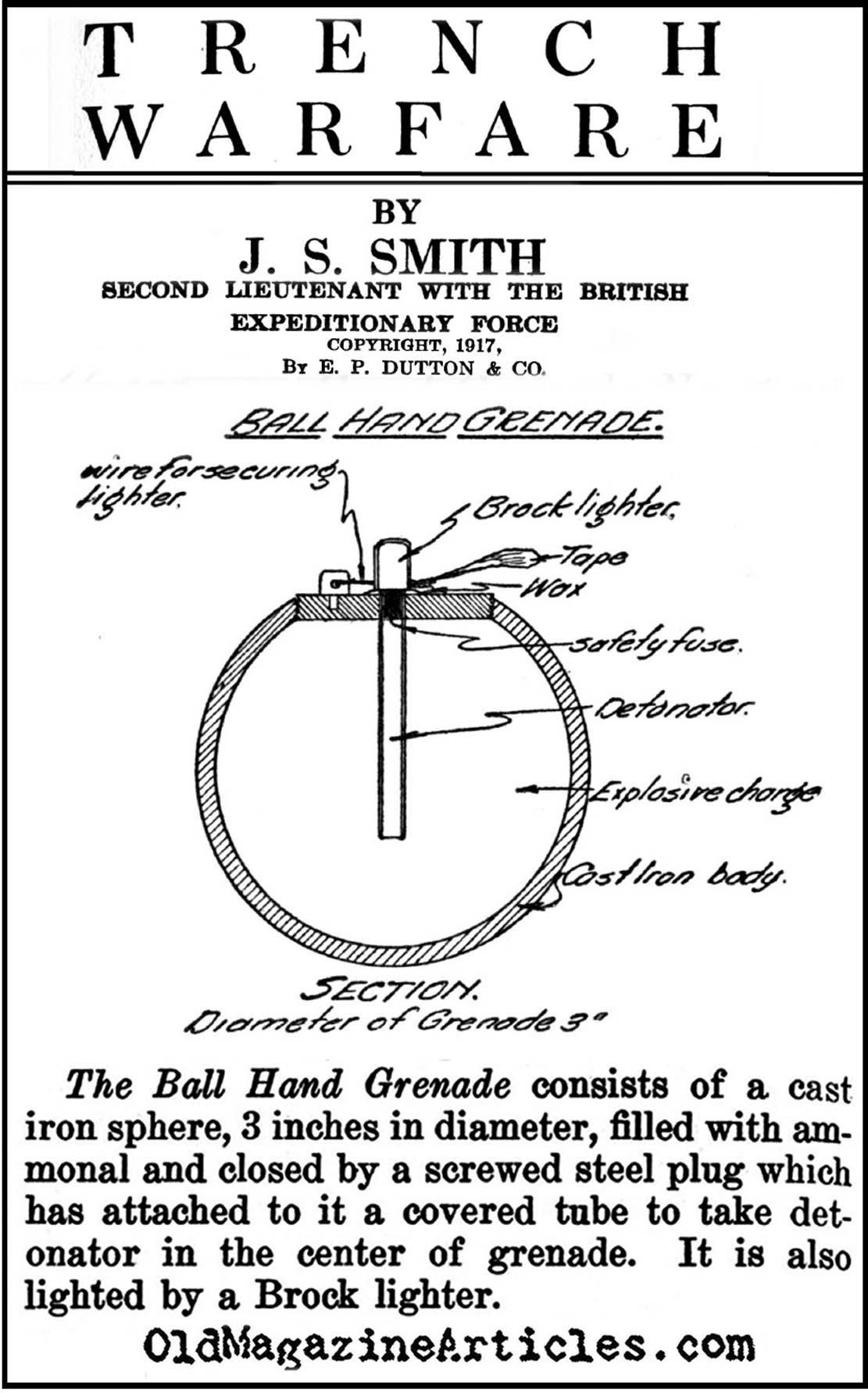 The British Ball Grenade  (Trench Warfare, 1917)