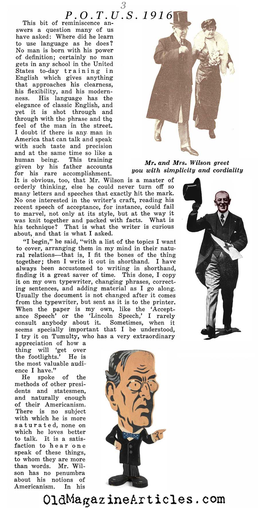 An Interview with Woodrow Wilson (Collier;s Magazine, 1916)