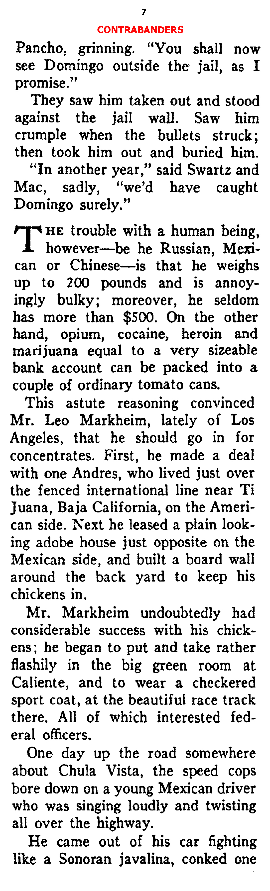There was Illegal Immigration from Mexico Back Then, Too (Ken Magazine, 1938)