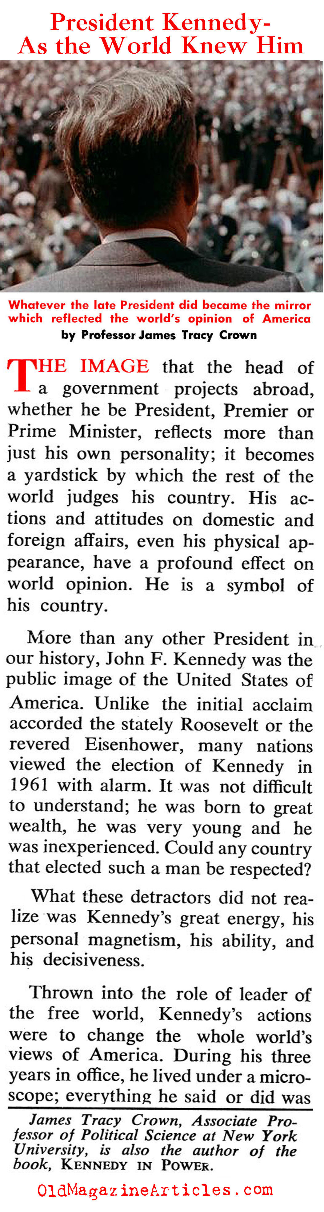 JFK - As the World Saw Him (Coronet Magazine, 1964)