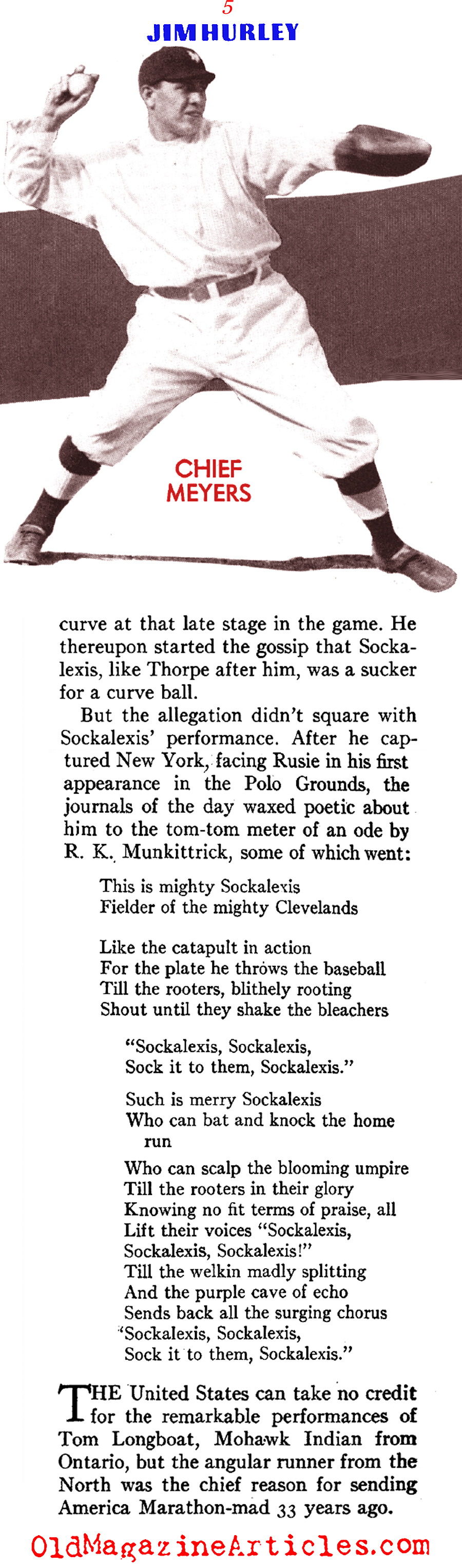 Jim Thorpe and the Carlisle Indians (American Legion Magazine, 1940)
