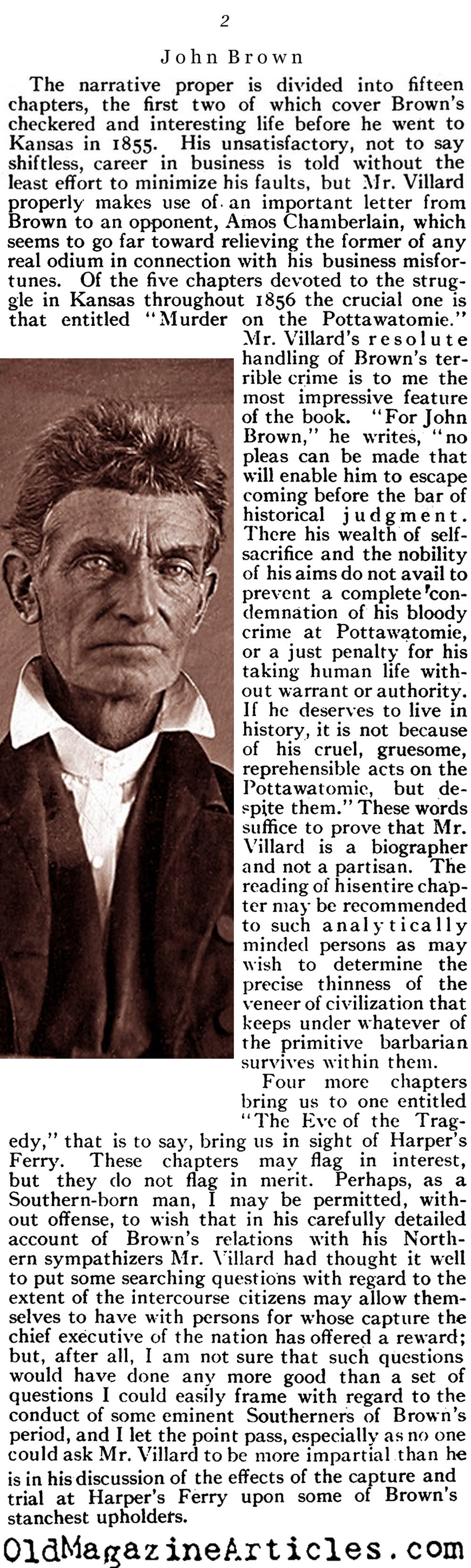 John Brown Examined (The North American Review, 1910)