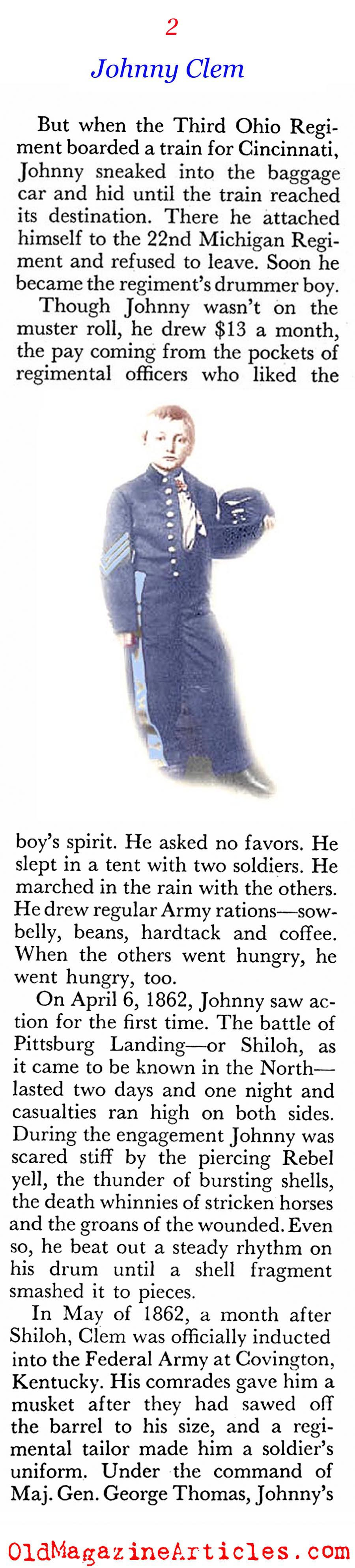 A Boy in the Union Army (Coronet Magazine, 1960)