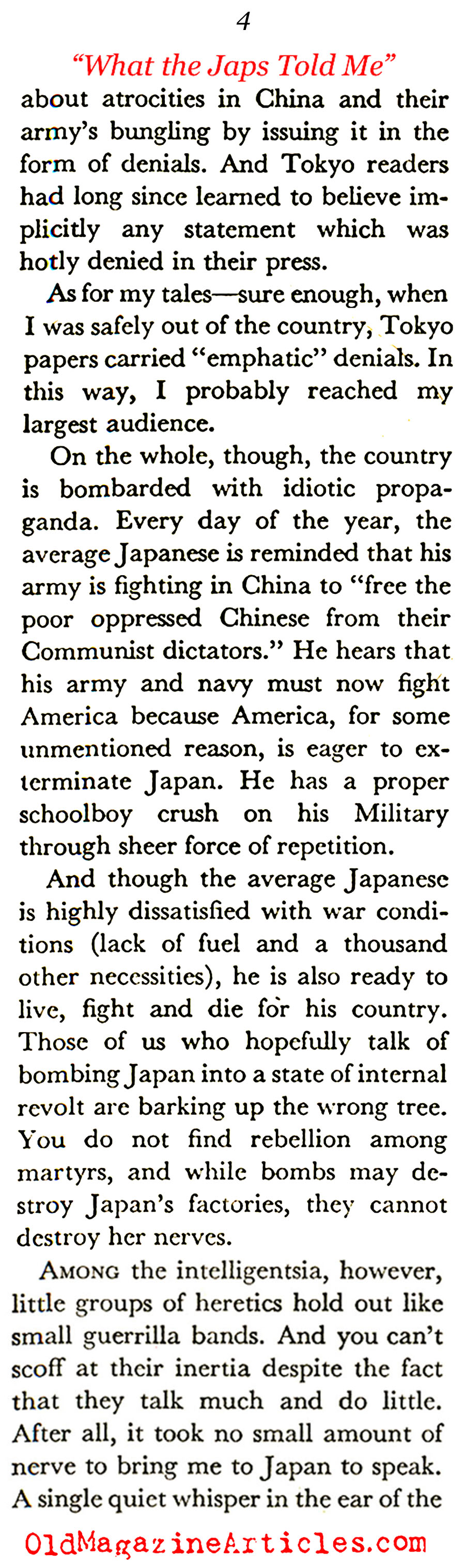 The Japanese Subversives (Coronet Magazine, 1943)