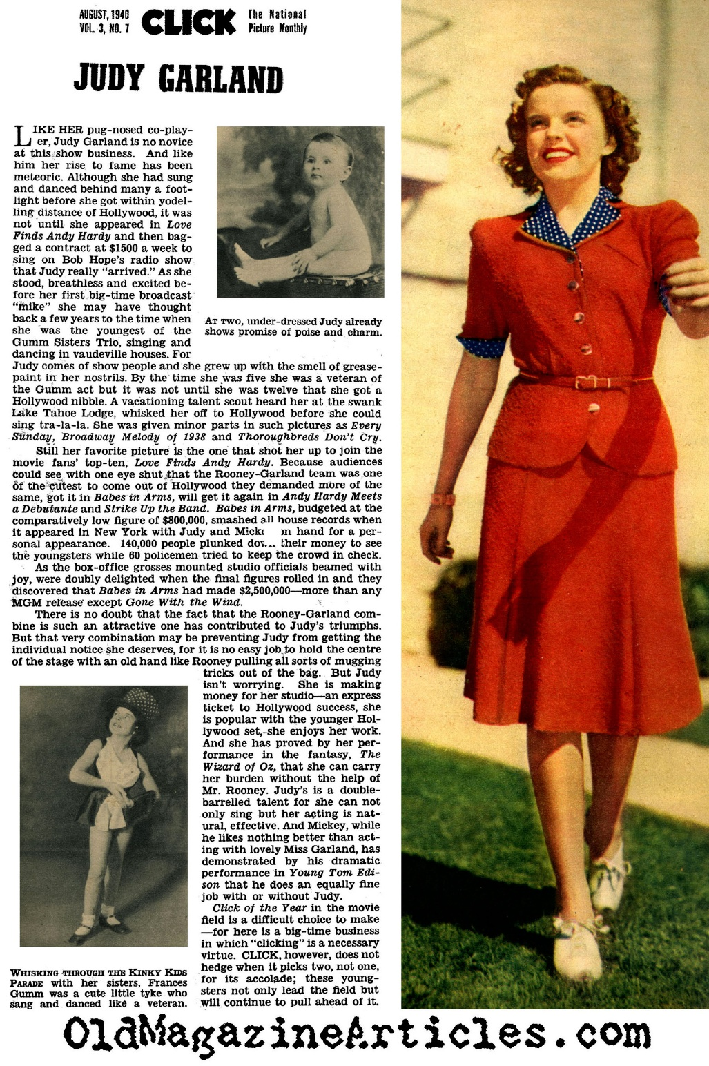 Judy Garland Fan Magazine Article 1940 Hollywood Fan Magazine About Early Career Of Judy Garland Judy Garland Profiled One Year After Wizard Of Oz Judy Garland And The Andy Hardy Movies 1940 Magazine Article About Judy