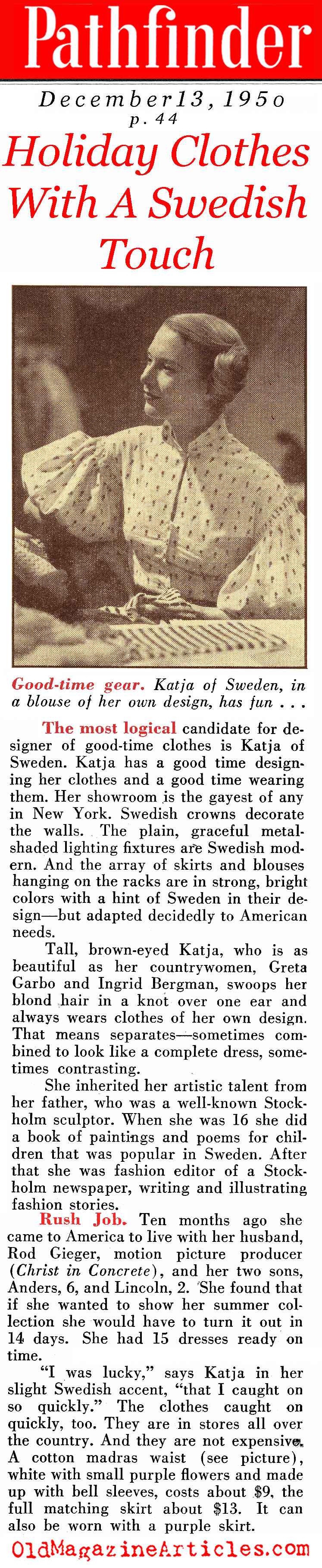 The Swedish Touch (Pathfinder Magazine, 1950)