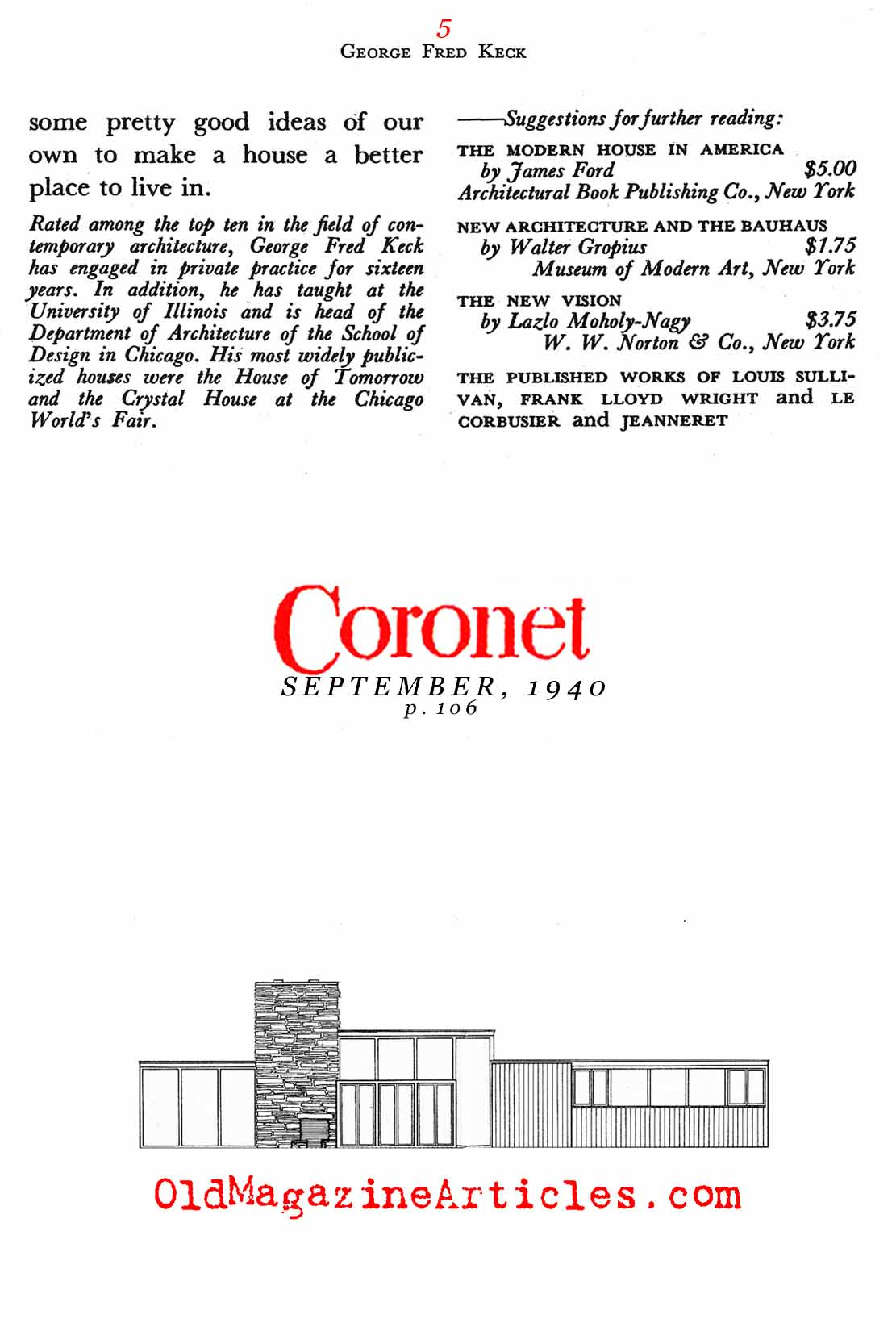 In Defense of Modern Architecture   (Coronet Magazine, 1940)