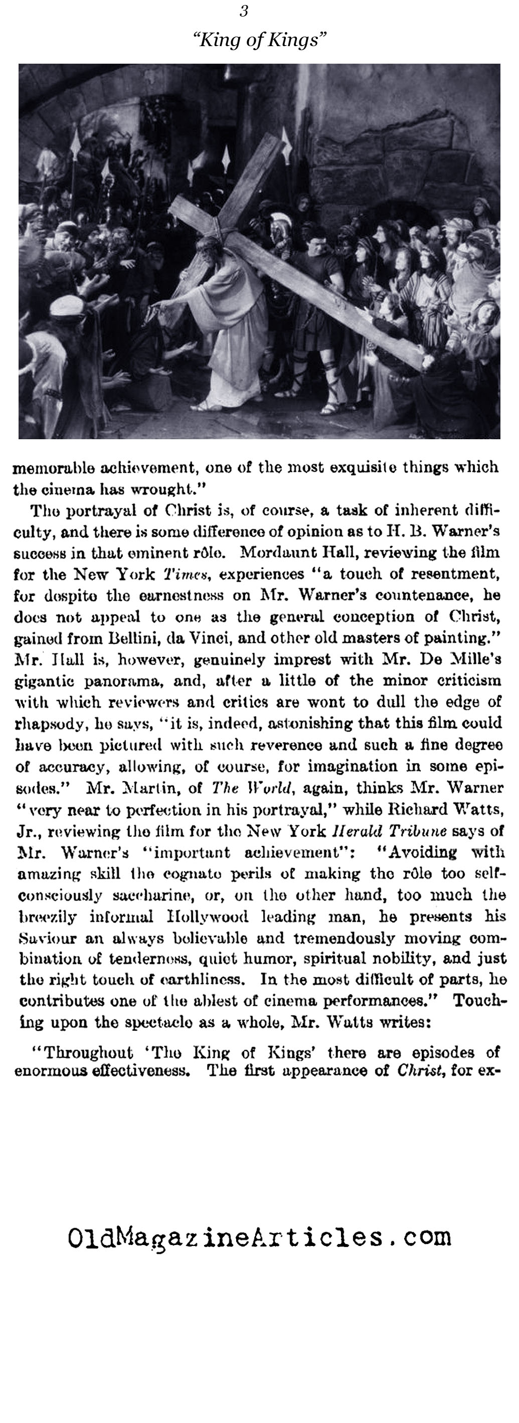 Christ is Big Box-Office (The Literary Digest, 1927)