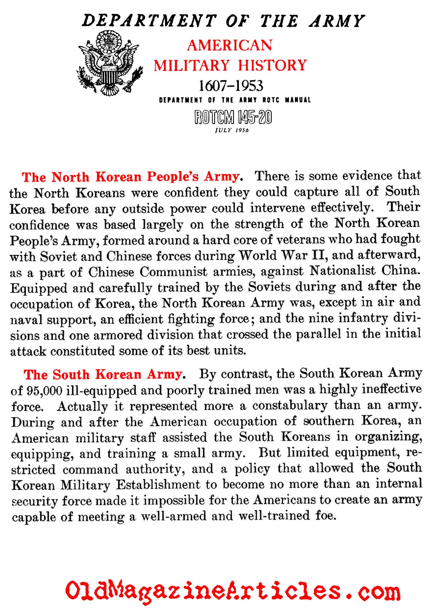 NORTH KOREAN ARMY COMPARED TO SOUTH KOREAN ARMY,SIZE OF NORTH ...