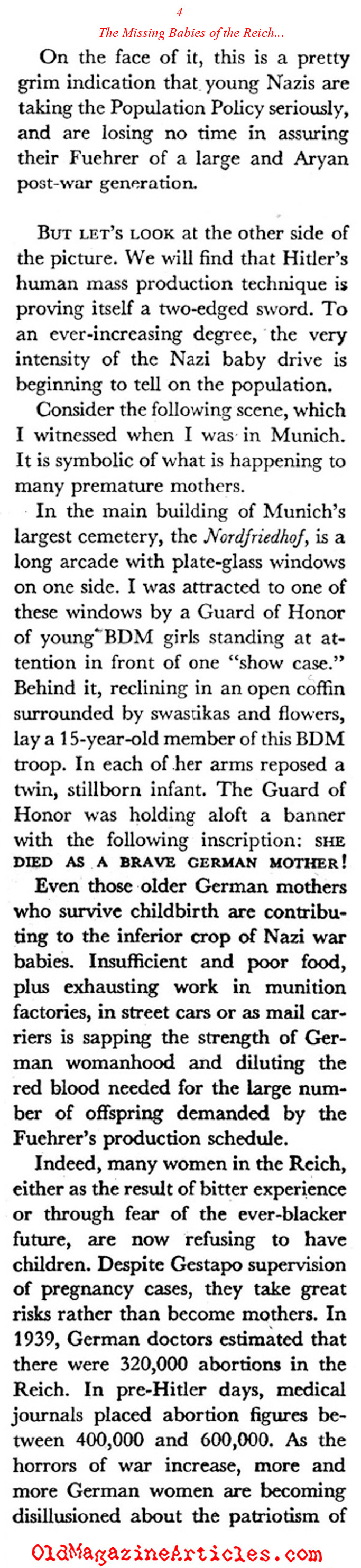 ''Healthy Eroticism'' in the Third Reich (Coronet Magazine, 1942)