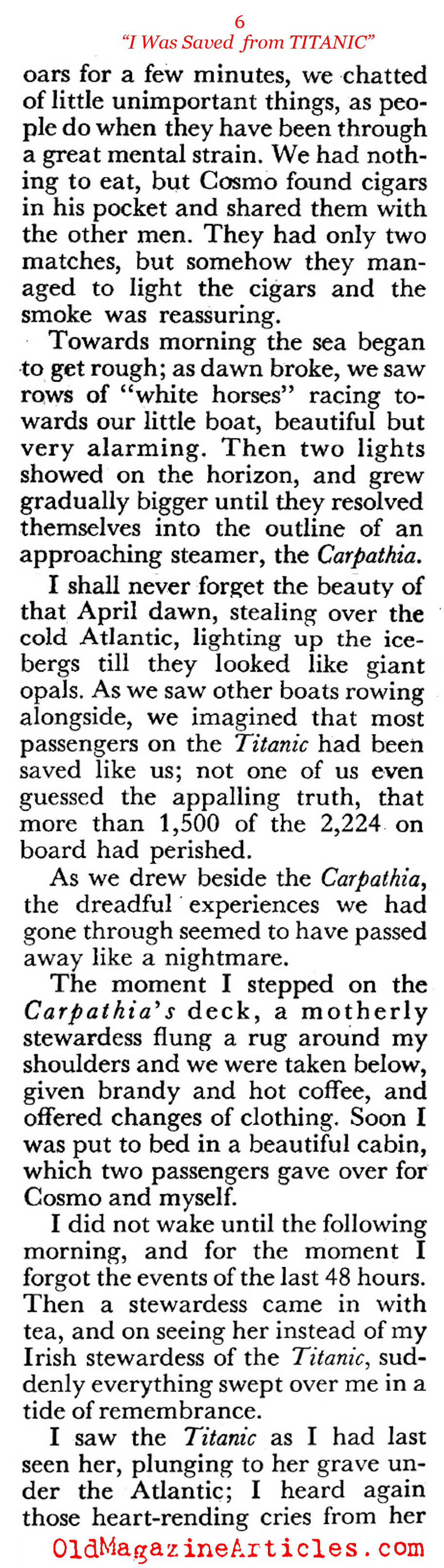 How I was Saved  (Coronet Magazine, 1951)