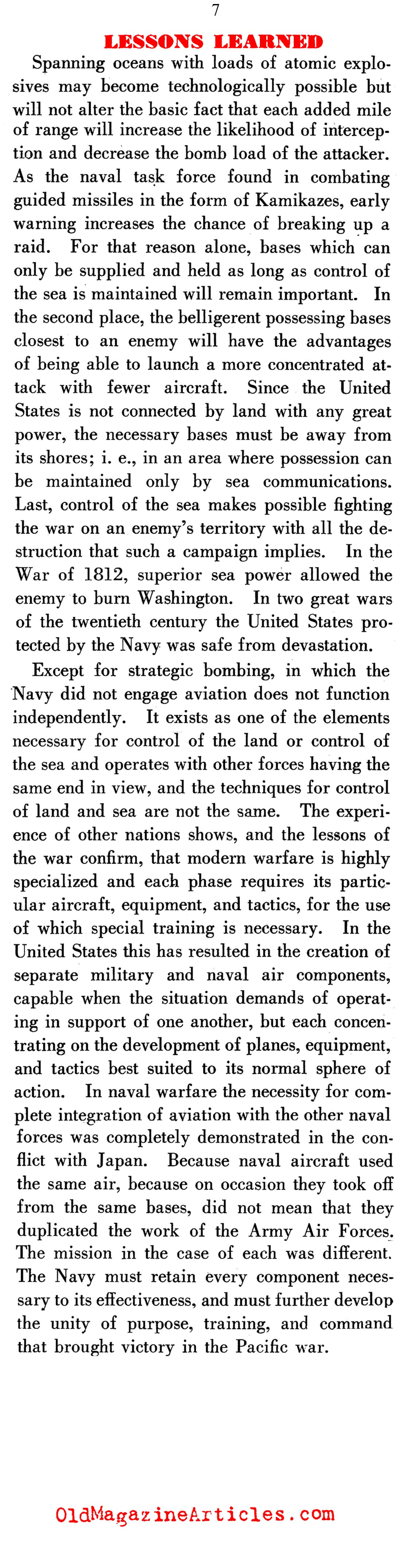 What the Navy Learned During the Pacific War (Dept. of the Navy, 1947)
