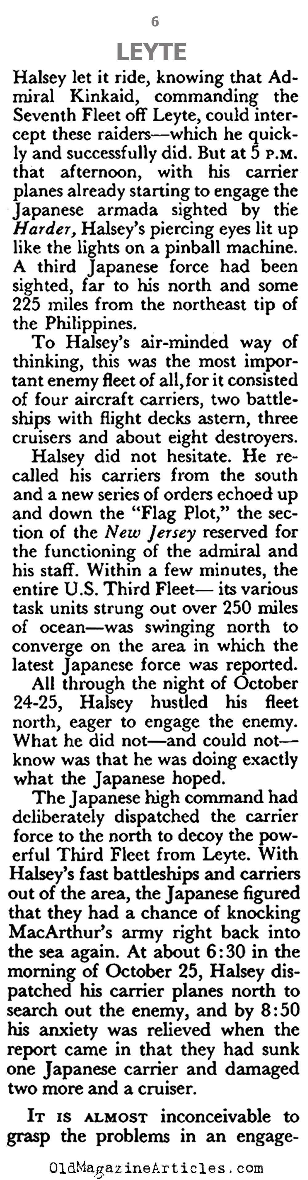 The Battle of Leyte Gulf (Pageant Magazine, 1960)