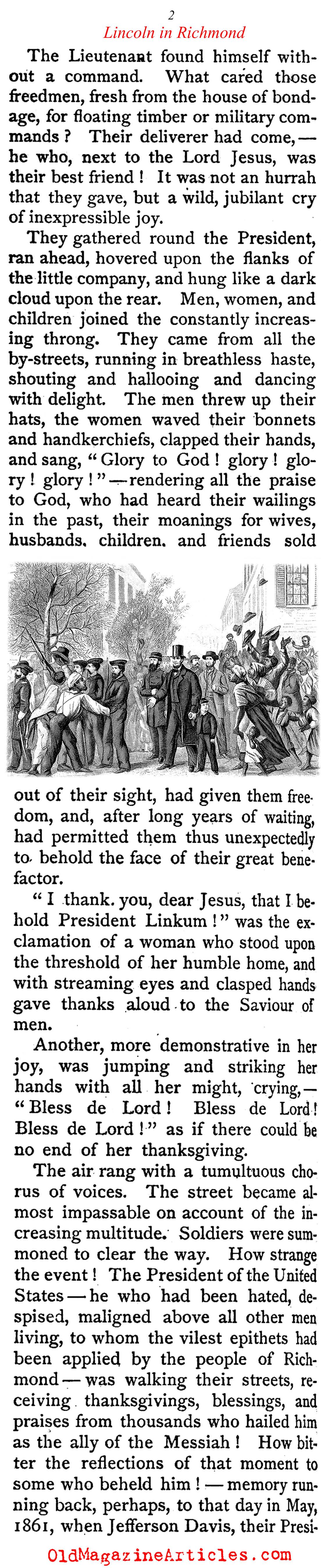 Fall of Richmond 1865 Lincoln