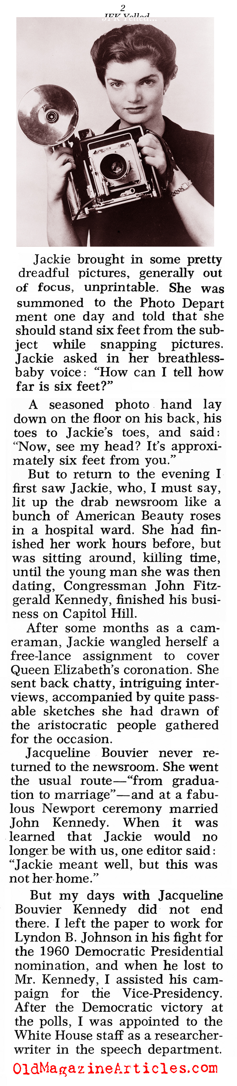 The Unknown Jackie Kennedy (Pageant Magazine, 1970)