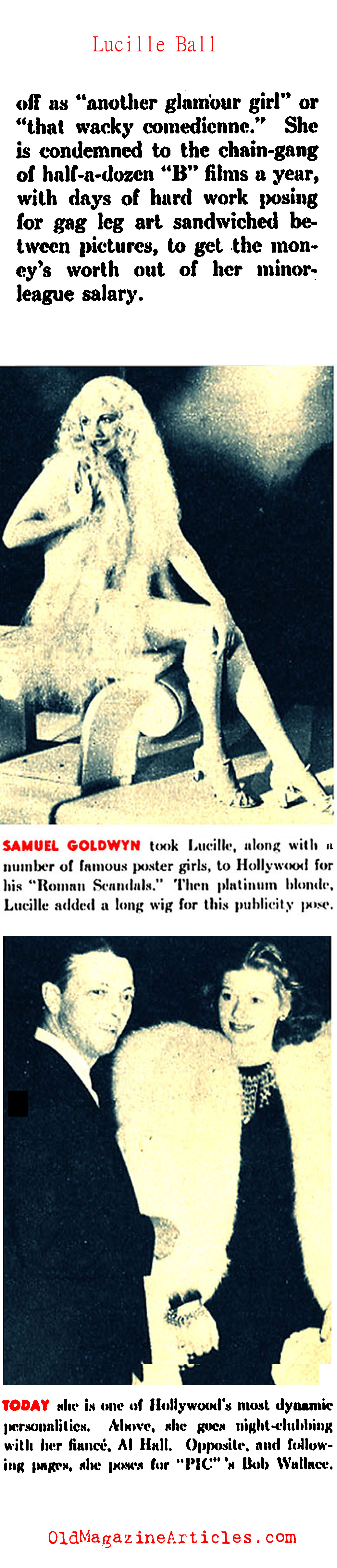 Lucille Ball Gets Noticed (Pic Magazine, 1940)