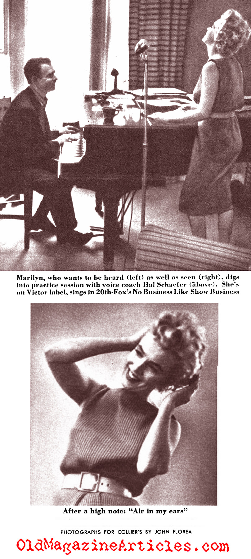 Marilyn Monroe Sings (Collier's Magazine, 1954)