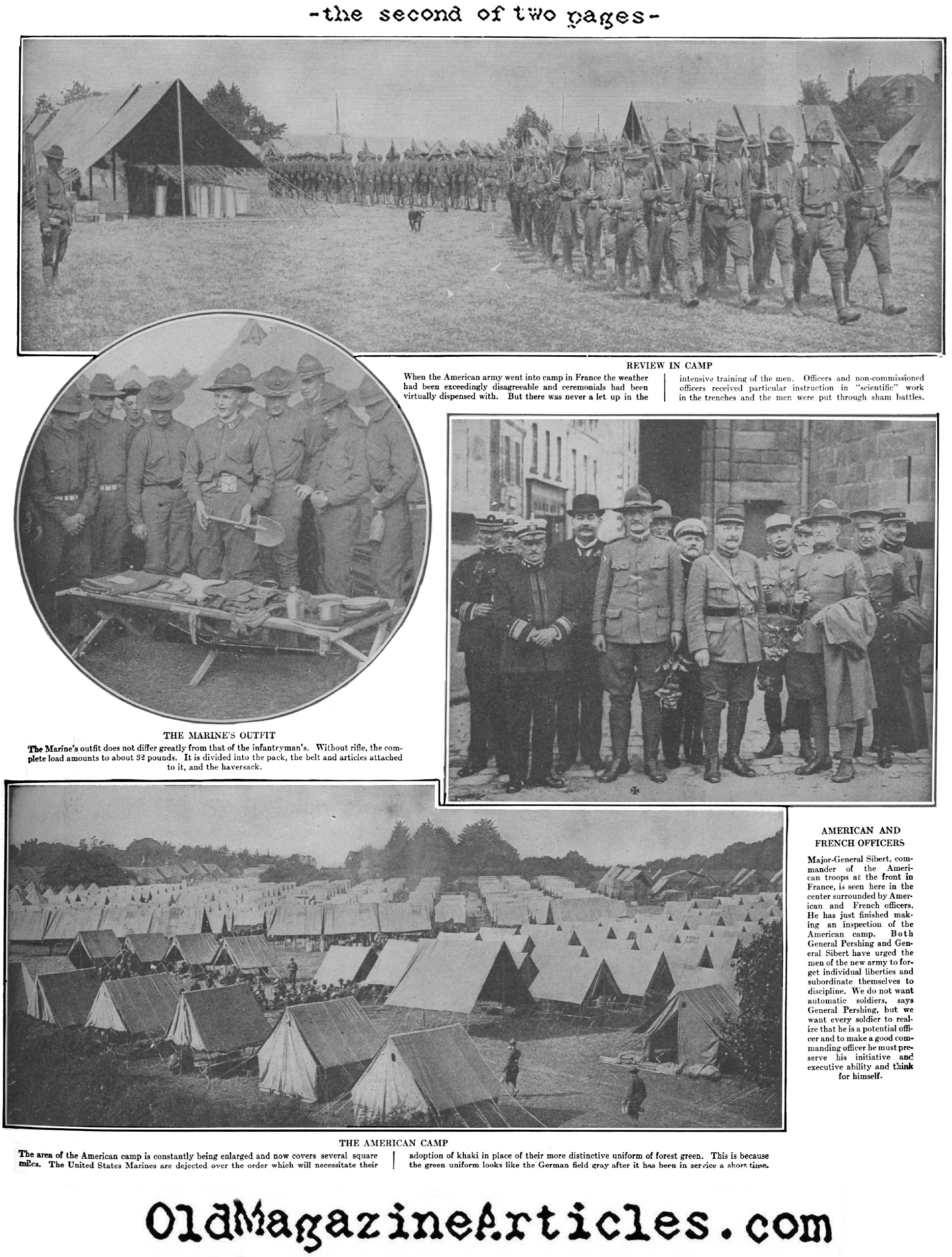 The American Marine in France (Leslie's Weekly, 1920)