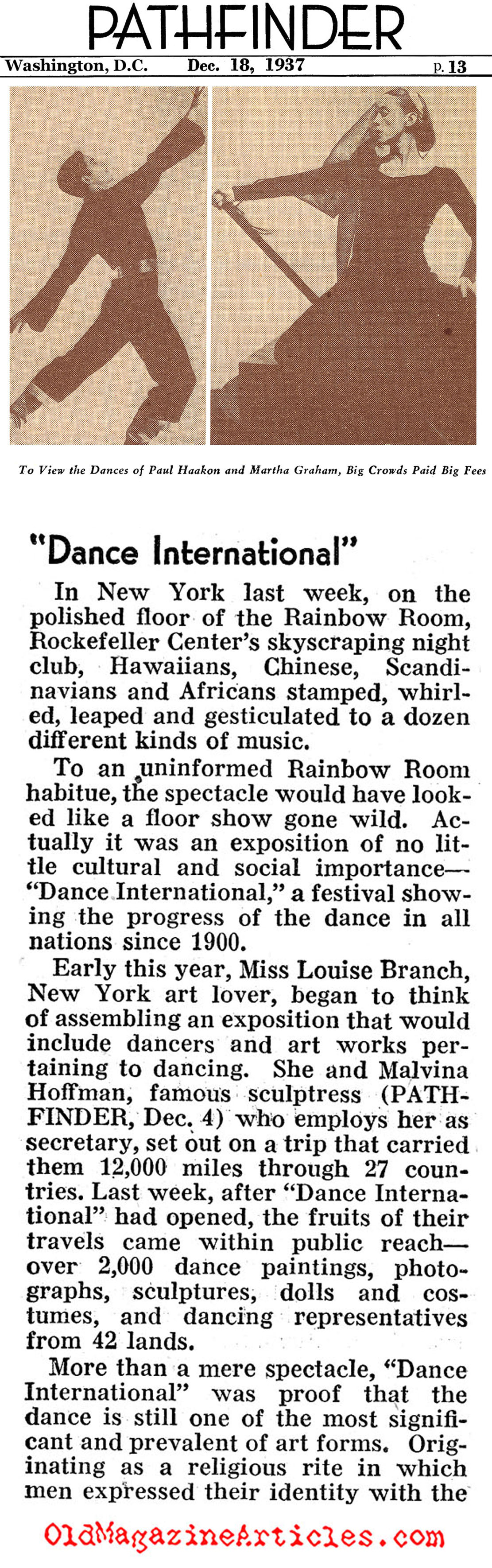 Dance International (Pathfinder Magazine, 1937)