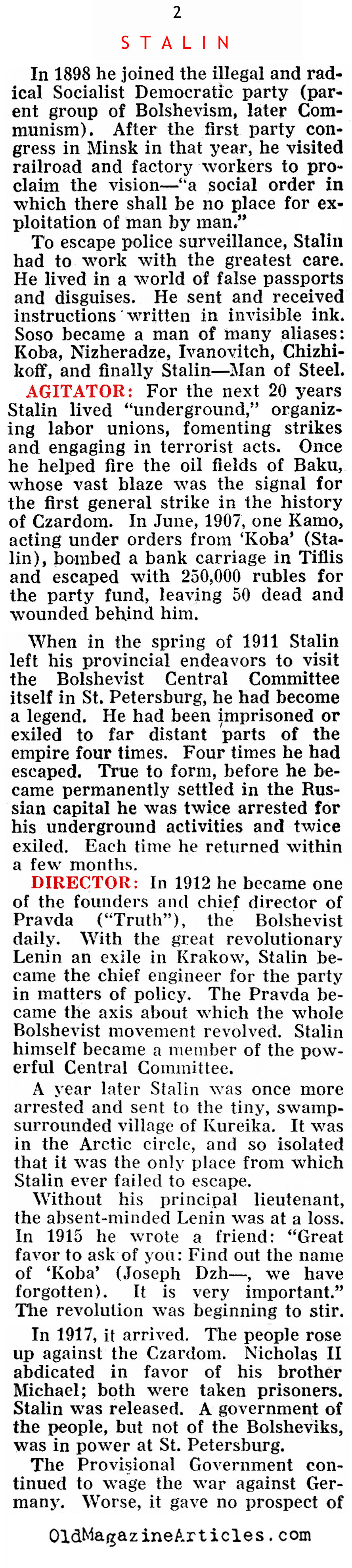 Meet Joseph Stalin (Pathfinder Magazine, 1937)
