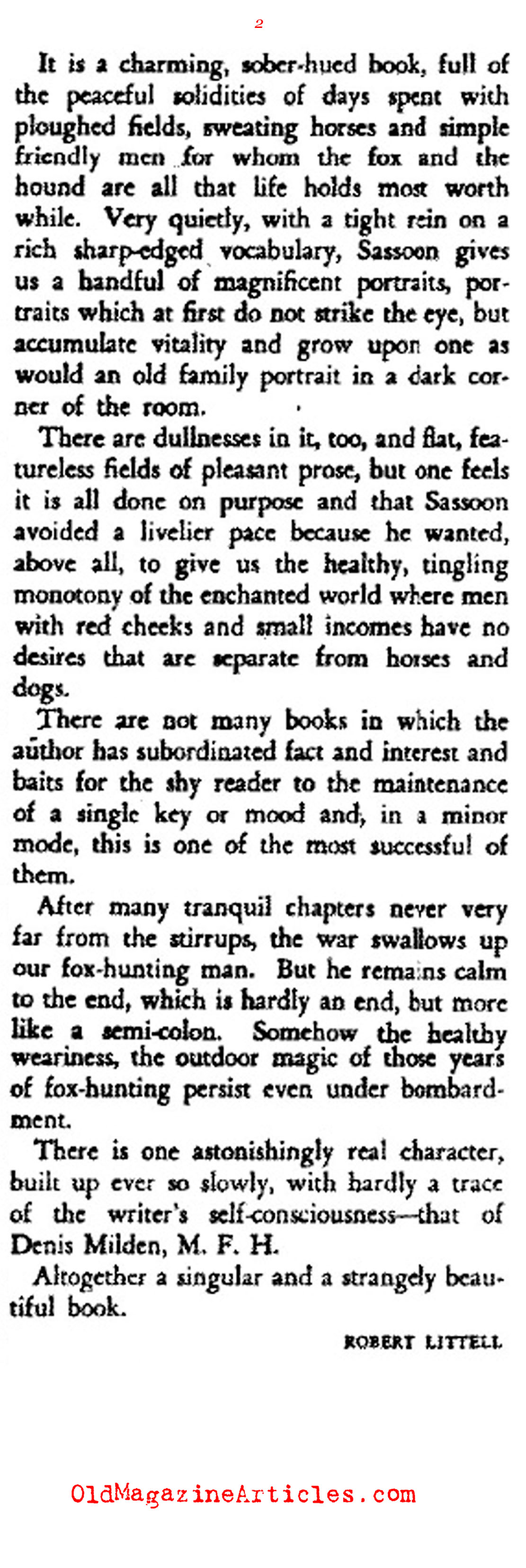 Memoirs of a Fox-Hunting Man (The Bookman, 1929)