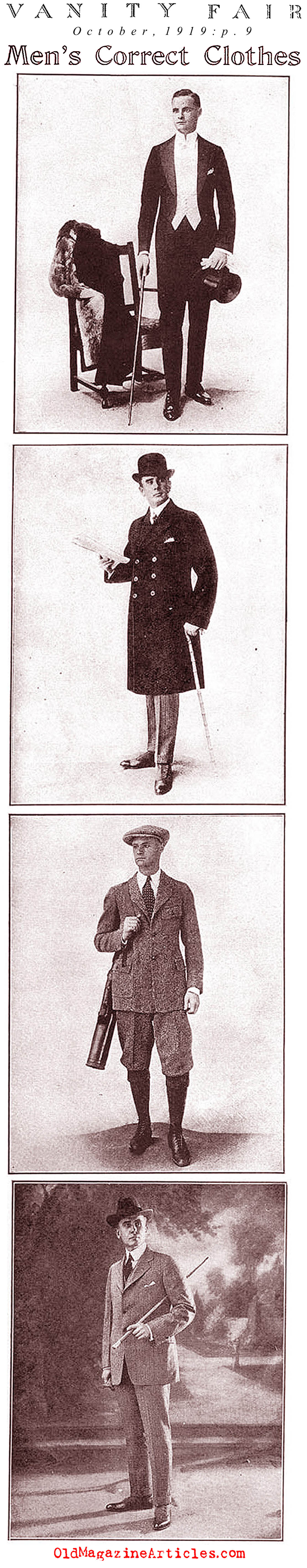 Men's Correct Clothes (Vanity Fair Magazine, 1919)