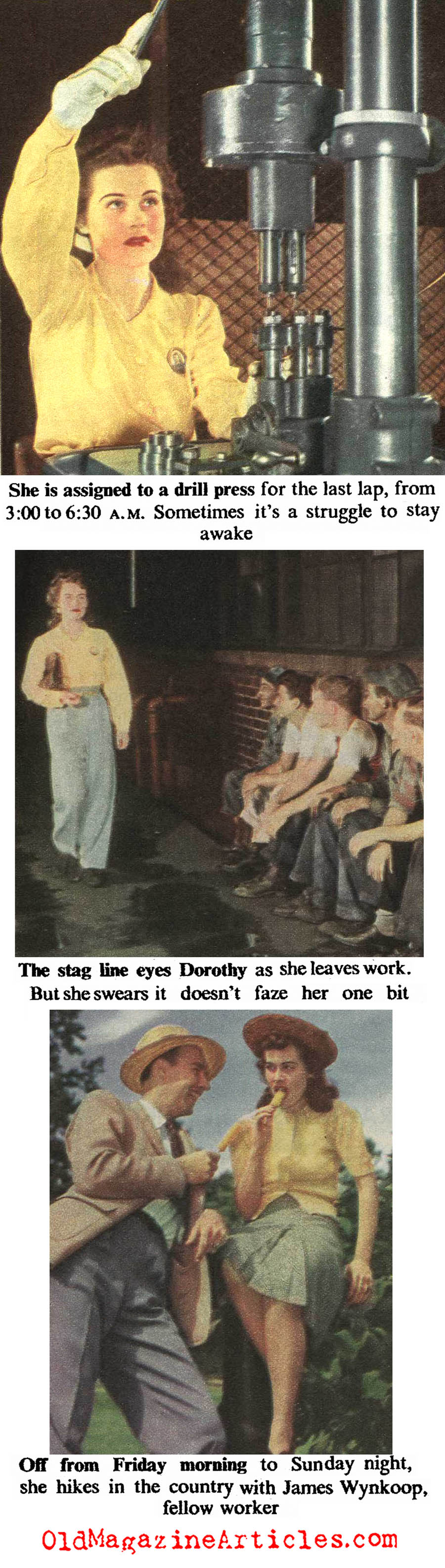 She Worked The Graveyard Shift (The American Magazine, 1943)