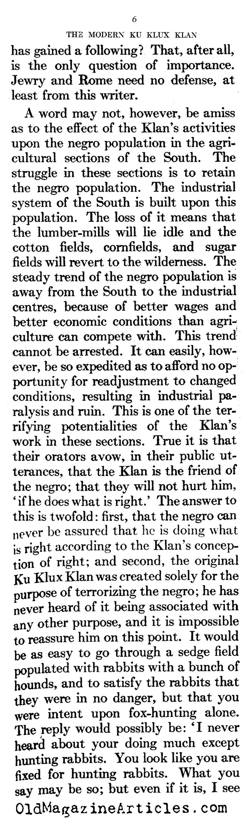 The Modern Klan (Atlantic Monthly, 1922)