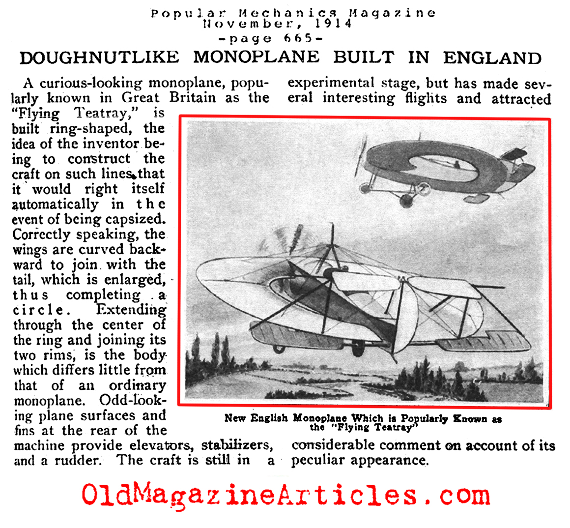 The Round-Winged Monoplane (Popular Mechanics, 1914)