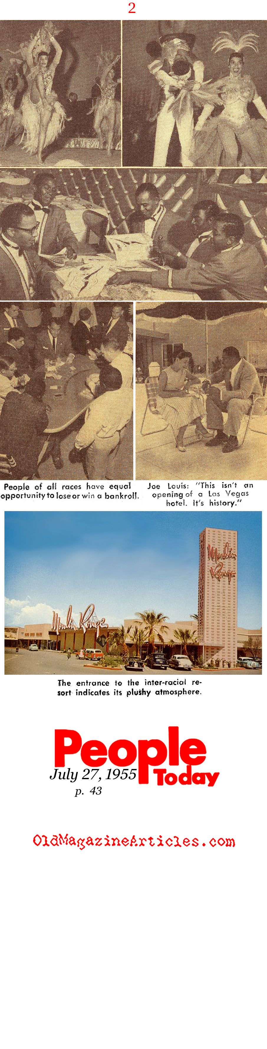 Racial Integration Comes to Sin City (People Today Magazine, 1955)