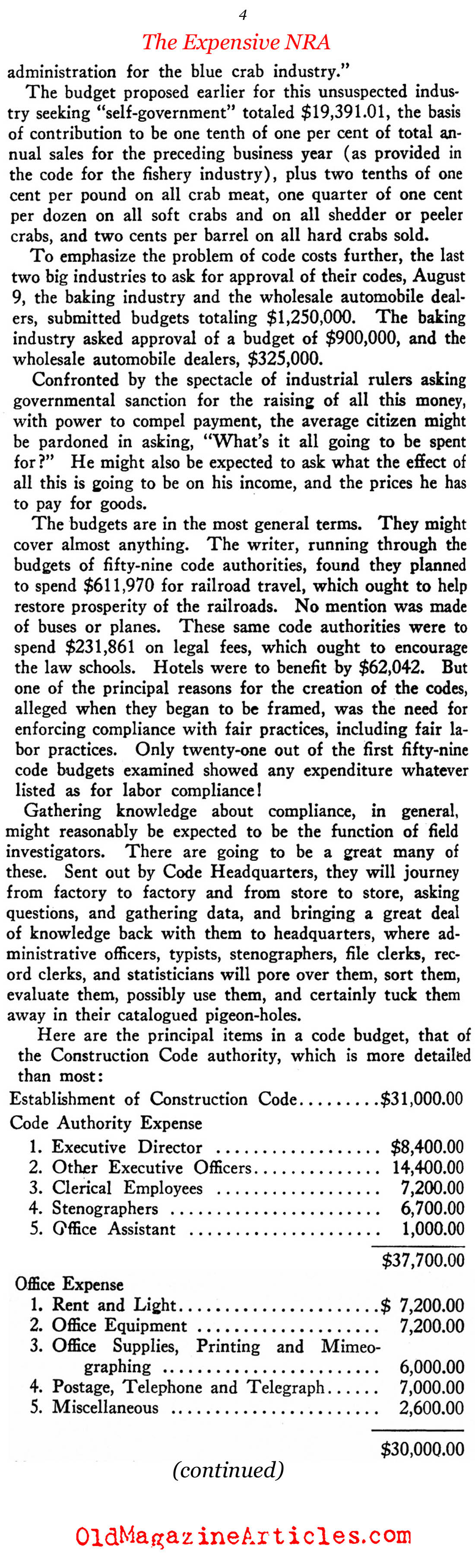 The Problem With Codes (New Outlook, 1934)