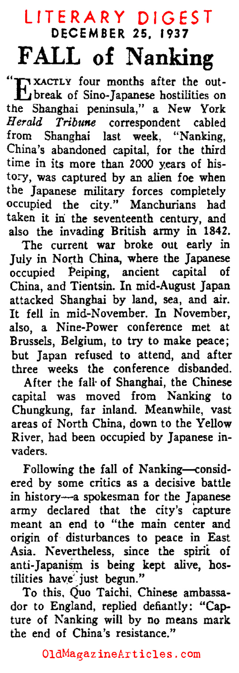 Nanking Falls (The Literary Digest, 1937)