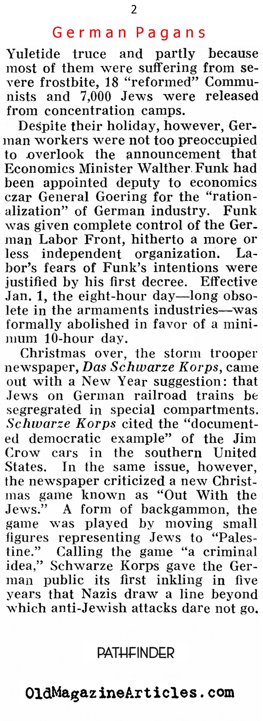 A Very Hitler Christmas (Pathfinder Magazine, 1939)