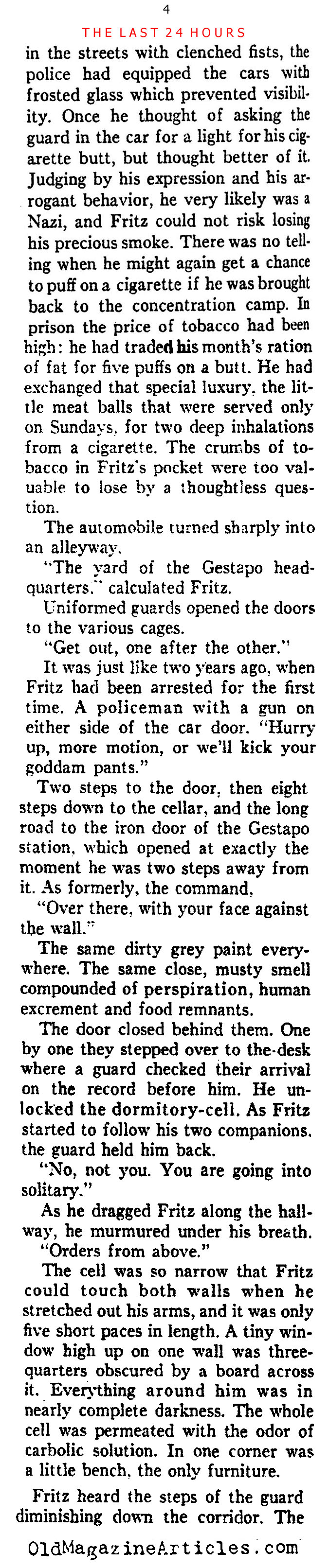 A German Dissident Recalls His Incarceration  (Ken Magazine, 1938)
