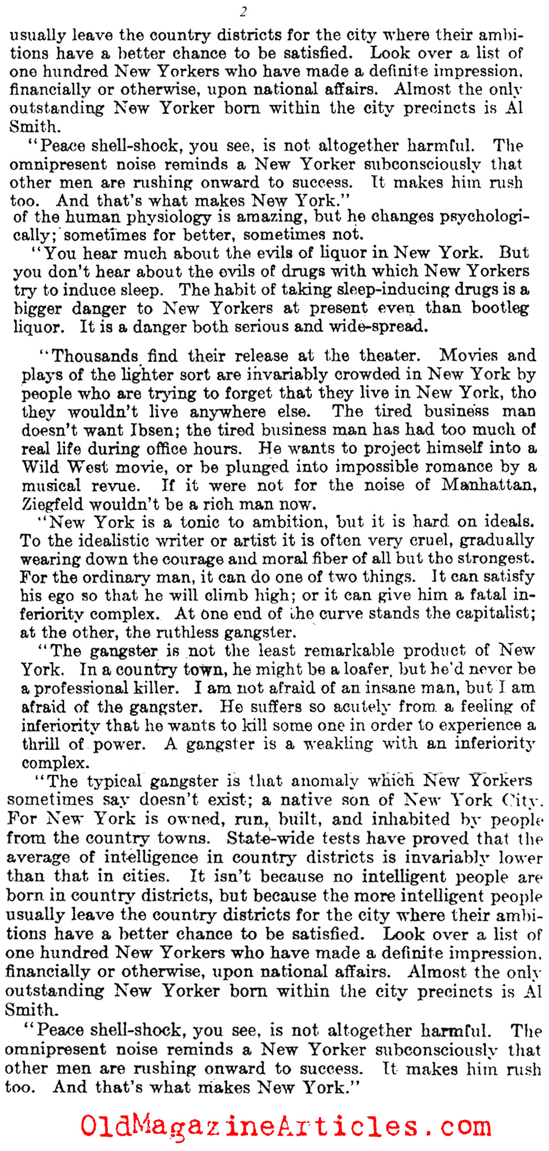 The Loud Noises of N.Y. (Literary Digest, 1929)