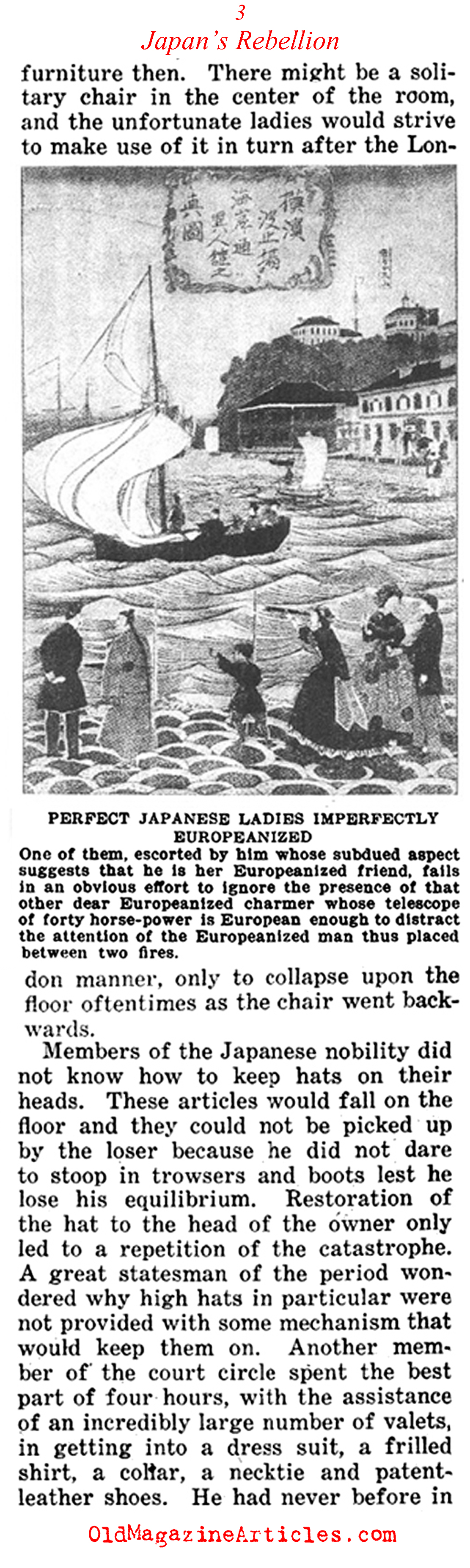 Japan's Rebellion Against  Western Fashions<BR> (Current Opinion Magazine, 1922)