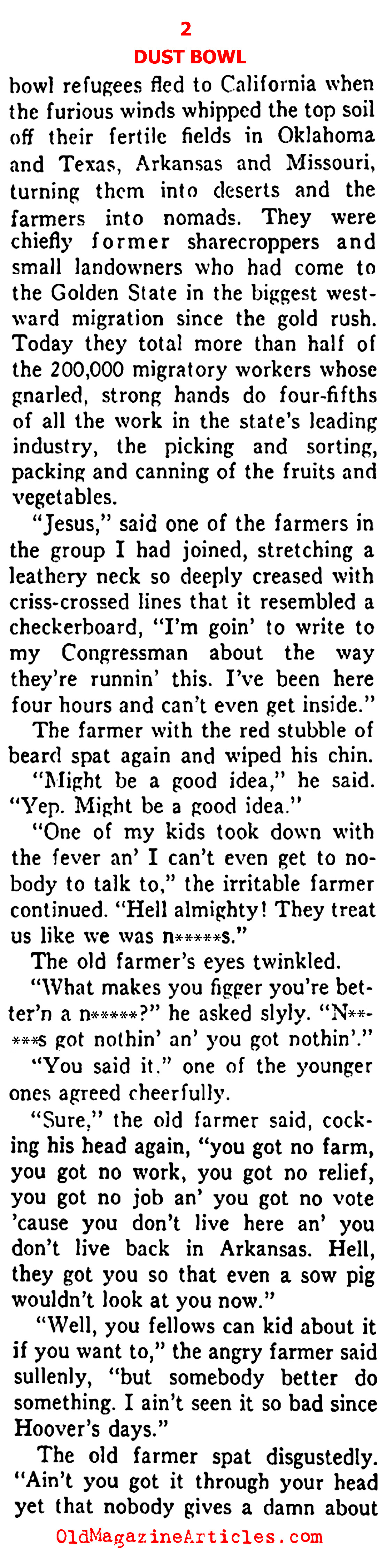 The Okies and the Dust Bowl (Ken Magazine, 1938)