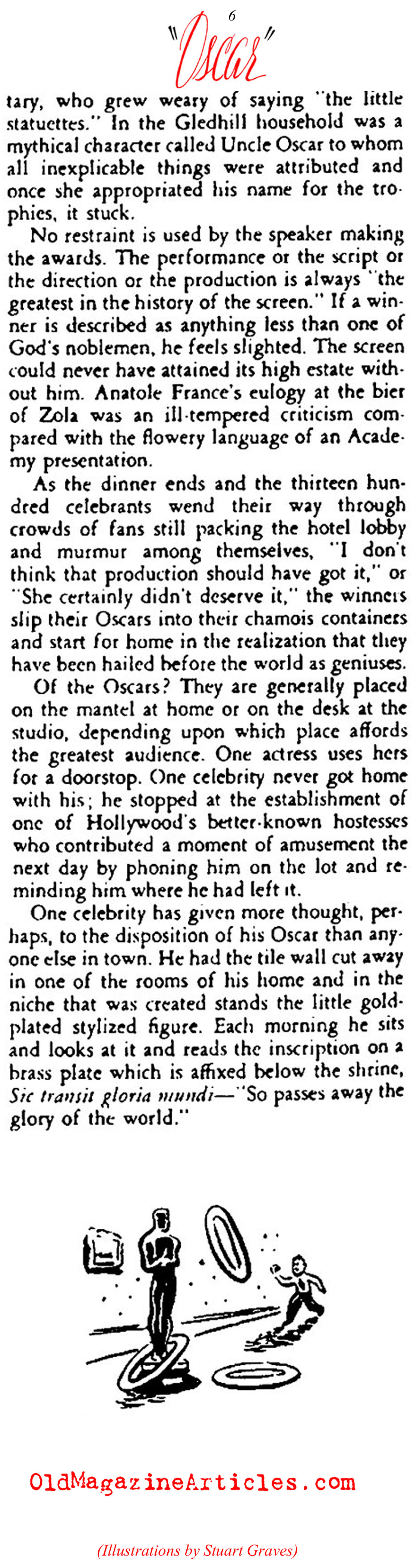 The Oscars: Hollywoods Self-Adoration Fest (Stage Magazine, 1938)