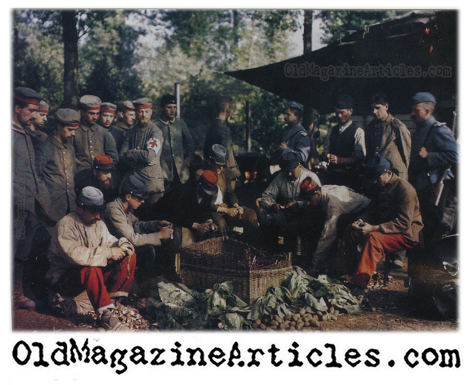 WW1 COLOR PICTURE 1914 PRISONERS | GERMAN POWS FROM BATTLE OF THE