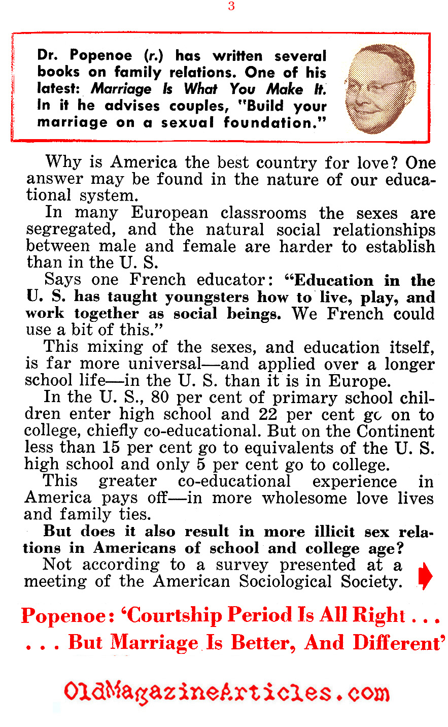 American Love is Better (People Today Magazine, 1955)