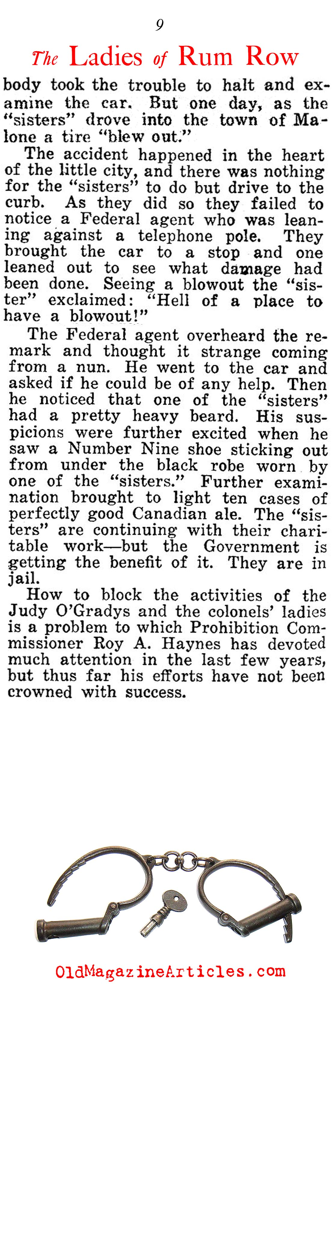 Prohibition Era Prisons Filled with Women (American Legion Weekly, 1924)