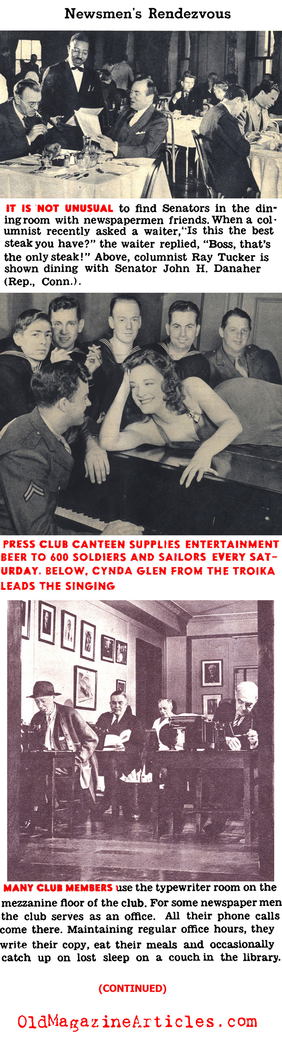 The Washington Press Club During the War (Click Magazine, 1943)