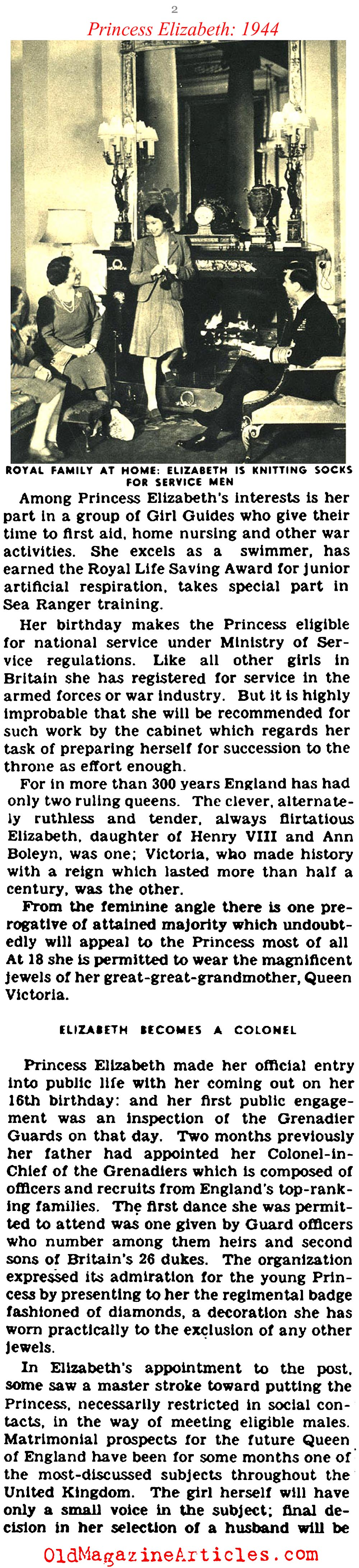 Princess Elizabeth Comes of Age (Click Magazine, 1944)