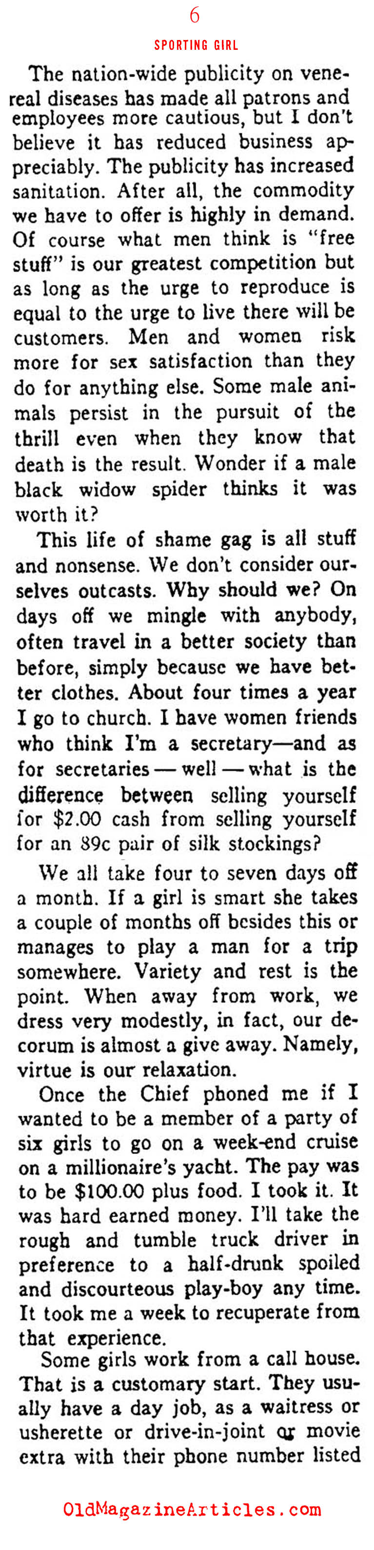 ''MY LIFE AS A PROSTITUTE'' (Ken Magazine, 1938)