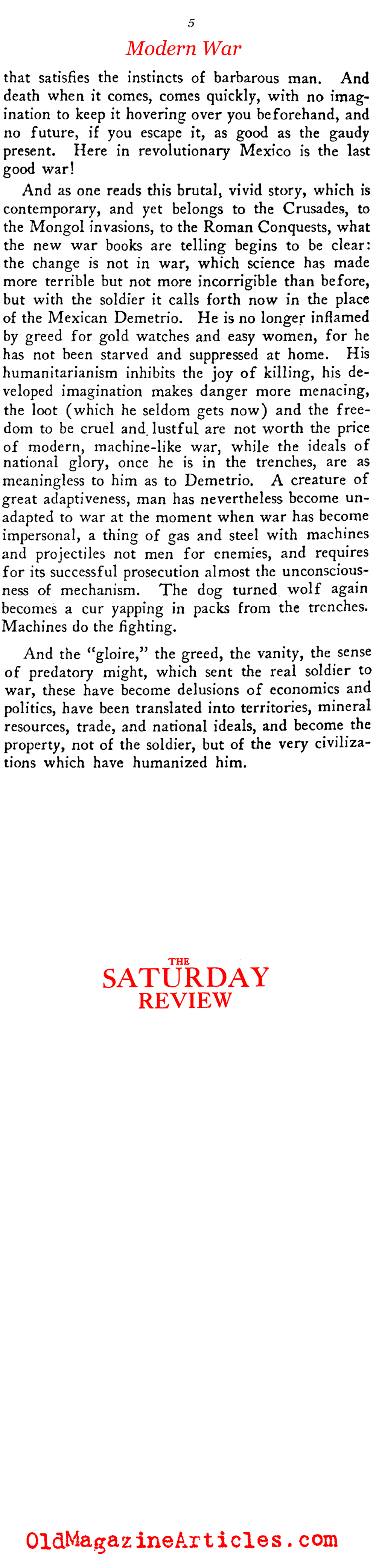 All Quiet on the Western Front (Saturday Review of Literature, 1929)