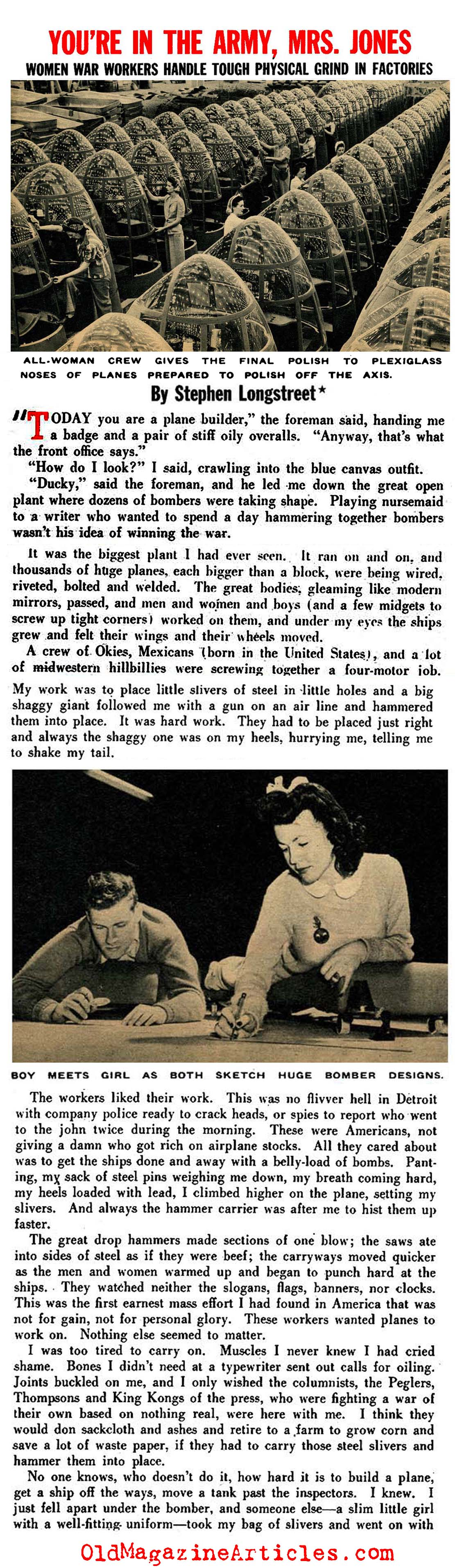 Women War Workers (Pic Magazine, 1943)